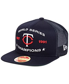 New Era Minnesota Twins Team Front Trucker 9FIFTY Snapback Cap