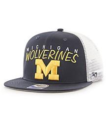 Big Boys Michigan Wolverines Wordmark Captain Snapback Cap