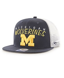 '47 Brand Big Boys Michigan Wolverines Wordmark Captain Snapback Cap