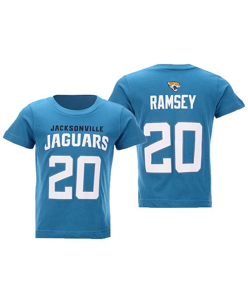 new style f6c5b f9294 Toddlers Jalen Ramsey Jacksonville Jaguars Mainliner Player T-Shirt