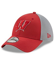 New Era Wisconsin Badgers TC Gray Neo 39THIRTY Cap