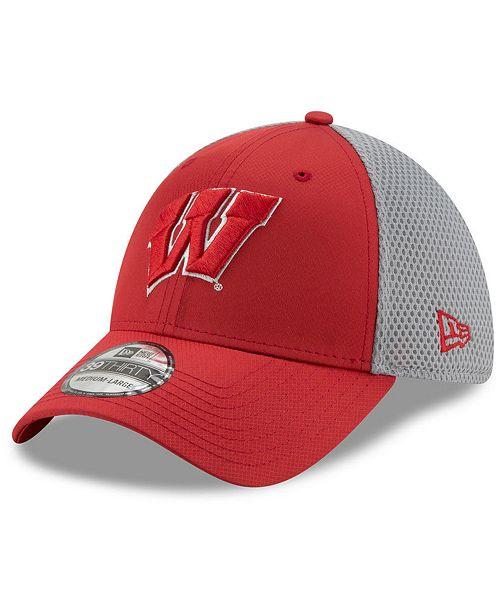 New Era Wisconsin Badgers TC Gray Neo 39THIRTY Cap