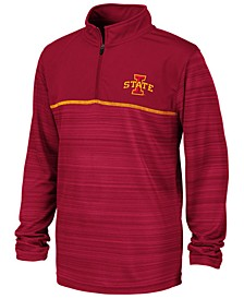 Big Boys Iowa State Cyclones Striped Mesh Quarter-Zip Pullover