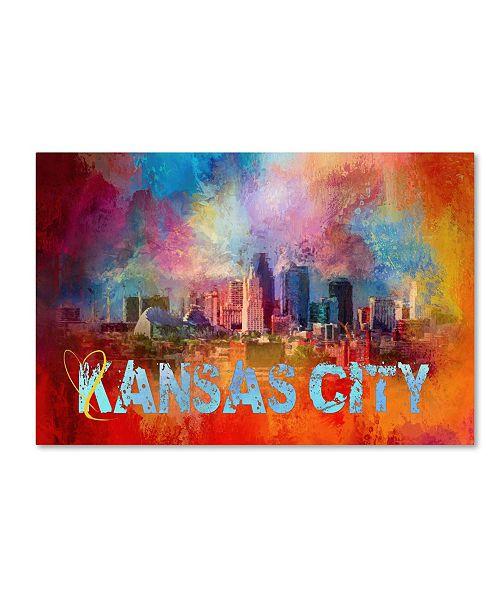 "Trademark Global Jai Johnson 'Sending Love To Kansas City' Canvas Art - 19"" x 12"" x 2"""