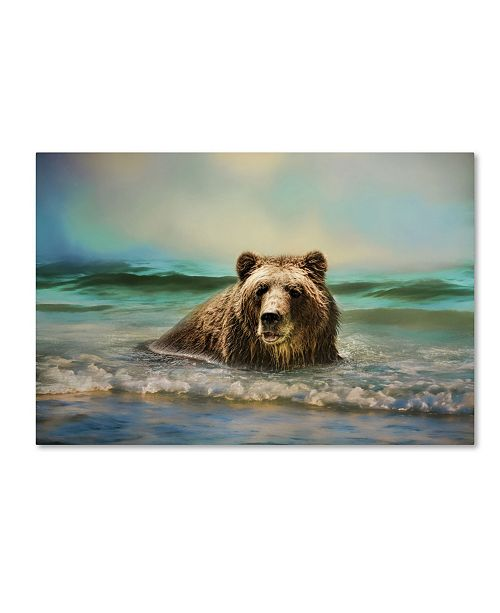 "Trademark Global Jai Johnson 'Early Morning Swim' Canvas Art - 19"" x 12"" x 2"""