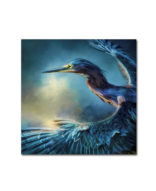 "Trademark Global Jai Johnson 'Flight Of The Green Heron' Canvas Art - 14"" x 14"" x 2"""