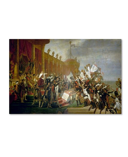 """Trademark Global David 'The Army Takes An Oath To The Emperor' Canvas Art - 19"""" x 12"""" x 2"""""""