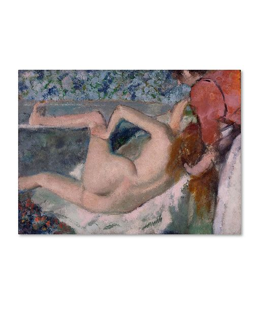 "Trademark Global Degas 'After The Bath' Canvas Art - 24"" x 18"" x 2"""
