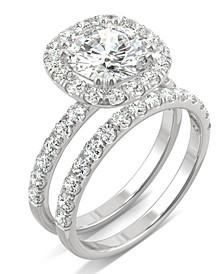 Moissanite Bridal Set (2-7/8 ct. t.w. Diamond Equivalent) in 14k white gold