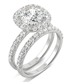 Moissanite Bridal Set (2-7/8 ct. t.w. Diamond Equivalent) in 14k white gold