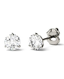Moissanite Stud Earrings (1 ct. t.w. Diamond Equivalent) in 14k white or yellow gold