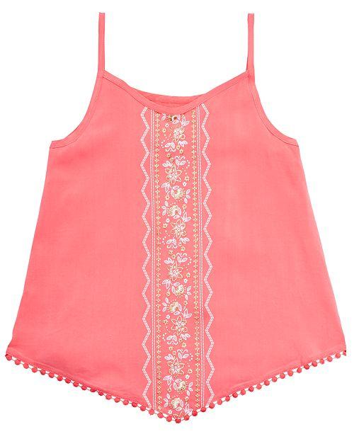 Epic Threads Big Girls Floral-Print Diamond Challis Tank Top, Created for Macy's