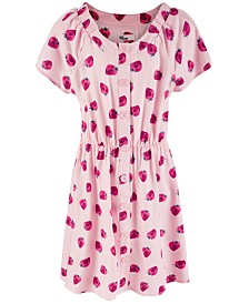 Epic Threads Big Girls Strawberry-Print Peasant Dress, Created for Macy's