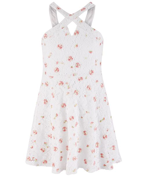 Epic Threads Big Girls Embroidered Lace Dress, Created for Macy's