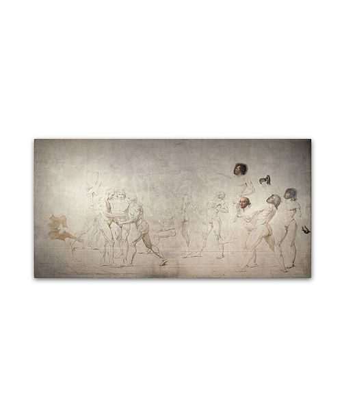 "Trademark Global David 'The Jeu De Paume Oath' Canvas Art - 10"" x 19"" x 2"""