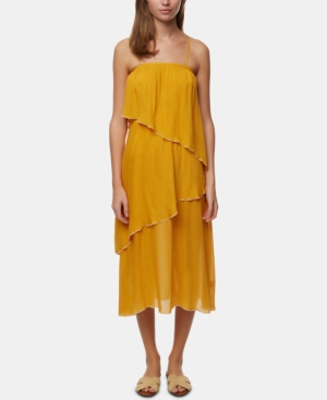 O'neill Juniors' Tiered Maxi Dress In Sunflower
