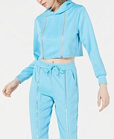 Cropped Zip-Detail Hoodie