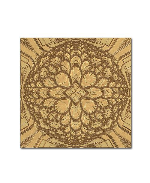 "Trademark Global Cora Niele 'Copper Metalwork' Canvas Art - 14"" x 14"" x 2"""