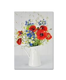 """Cora Niele 'Jug With Wildflowers' Canvas Art - 32"""" x 22"""" x 2"""""""