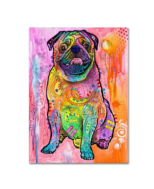 "Trademark Global Dean Russo 'Pugs & Kisses' Canvas Art - 24"" x 18"" x 2"""
