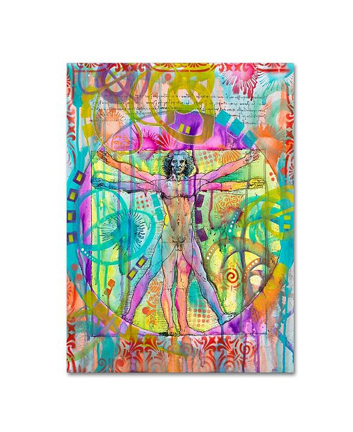 "Trademark Global Dean Russo 'Vitruvian Man' Canvas Art - 24"" x 18"" x 2"""