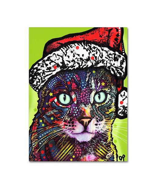 "Trademark Global Dean Russo 'Watchful Cat Christmas Edition' Canvas Art - 19"" x 14"" x 2"""