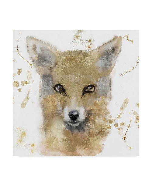 "Trademark Global Color Bakery 'Golden Forest Fox' Canvas Art - 18"" x 18"" x 2"""
