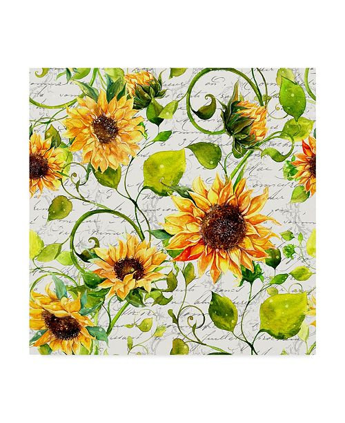 "Trademark Global Irina Trzaskos Studio 'Sunflower Pattern I' Canvas Art - 14"" x 14"" x 2"""