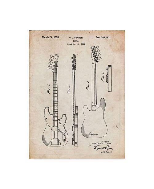 "Trademark Innovations Cole Borders 'Guitar 2' Canvas Art - 24"" x 18"" x 2"""