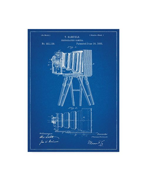 "Trademark Global Cole Borders 'Vintage Camera 2' Canvas Art - 47"" x 35"" x 2"""