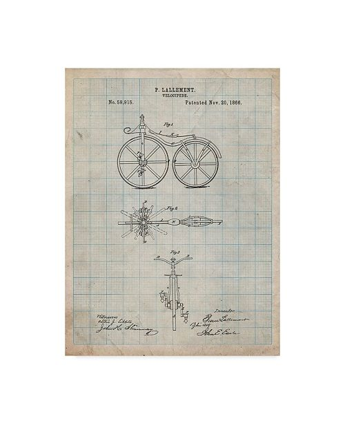 """Trademark Innovations Cole Borders 'Bicycle 2' Canvas Art - 47"""" x 35"""" x 2"""""""