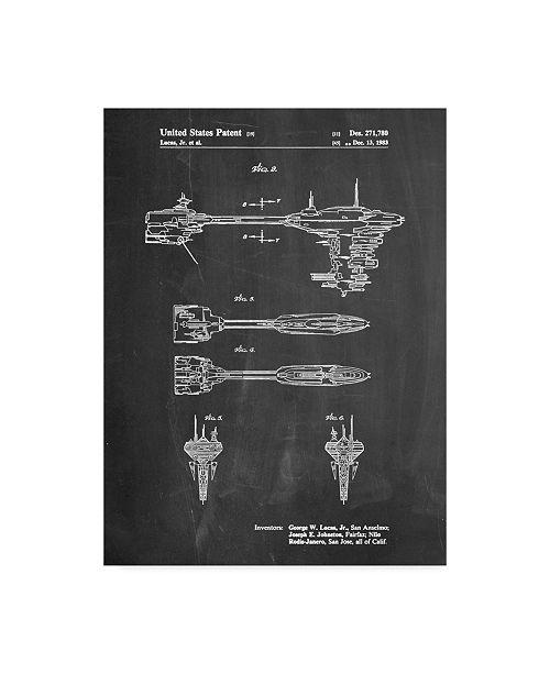 "Trademark Global Cole Borders 'Space Ship 4' Canvas Art - 19"" x 14"" x 2"""