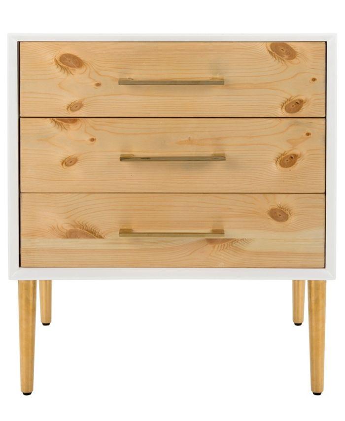Safavieh - Vanda 3-Drawer Beetlewood Side Table
