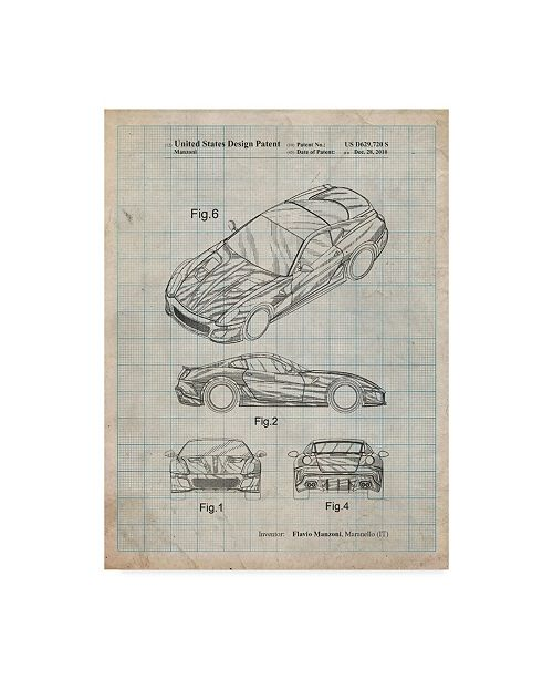"Trademark Innovations Cole Borders 'Car 4' Canvas Art - 47"" x 35"" x 2"""