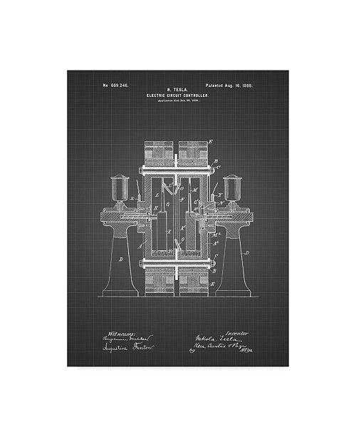 """Trademark Global Cole Borders 'Tesla Circuit' Canvas Art - 32"""" x 24"""" x 2"""""""