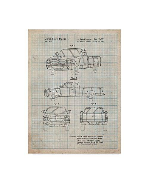 "Trademark Global Cole Borders 'Truck 1' Canvas Art - 47"" x 35"" x 2"""