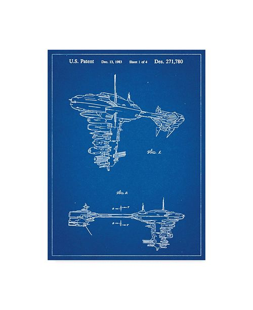 "Trademark Global Cole Borders 'Space Ship 11' Canvas Art - 19"" x 14"" x 2"""