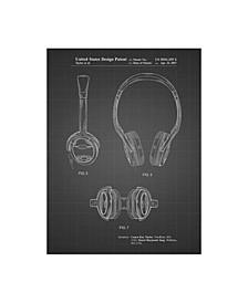 """Cole Borders 'Noise Canceling Headphones' Canvas Art - 19"""" x 14"""" x 2"""""""