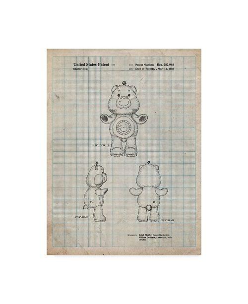 "Trademark Global Cole Borders 'Sunshine Care Bear' Canvas Art - 47"" x 35"" x 2"""
