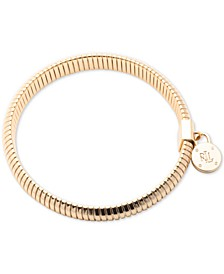 Gold-Tone Omega Chain Stretch Bracelet
