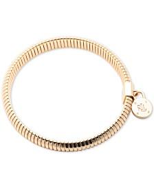 Lauren Ralph Lauren Gold-Tone Omega Chain Stretch Bracelet