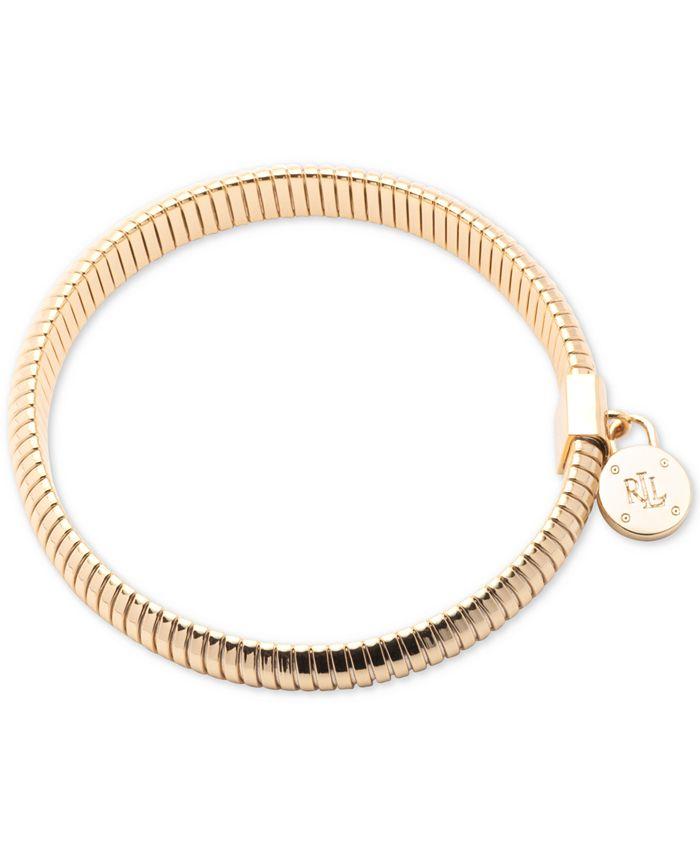 Lauren Ralph Lauren - Gold-Tone Omega Chain Stretch Bracelet