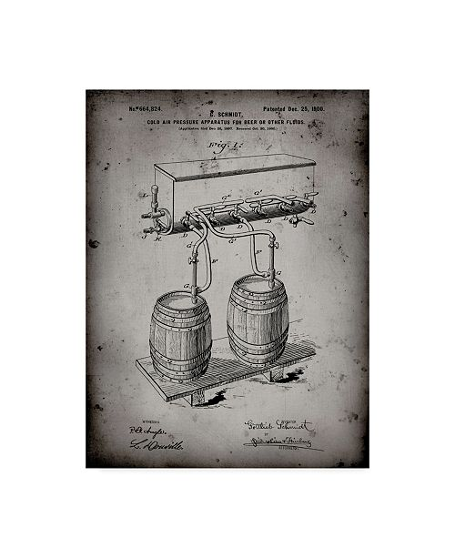"""Trademark Innovations Cole Borders 'Beer Keg Cold Air Pressure Tap' Canvas Art - 24"""" x 18"""" x 2"""""""