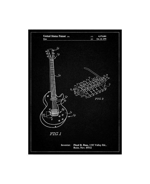 "Trademark Innovations Cole Borders 'Floyd Rose Guitar Tremolo' Canvas Art - 47"" x 35"" x 2"""