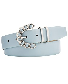 Steve Madden Chain-Buckle Plus-Size Belt