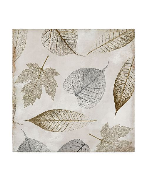"""Trademark Global Color Bakery 'Autumn Gold White Background' Canvas Art - 18"""" x 18"""" x 2"""""""