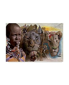 """D. Rusty Rust 'Africa Lions' Canvas Art - 24"""" x 16"""" x 2"""""""