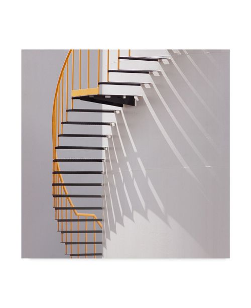 """Trademark Global Jacqueline Hammer 'Yellow Staircase' Canvas Art - 14"""" x 2"""" x 14"""""""