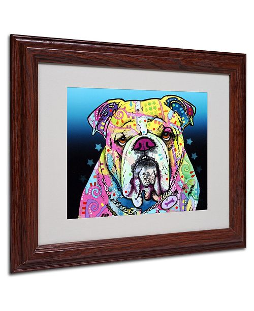 "Trademark Global Dean Russo 'The Bulldog' Matted Framed Art - 11"" x 14"" x 0.5"""