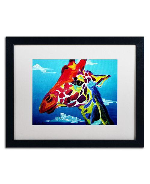 """Trademark Global DawgArt 'Giraffe' Matted Framed Art - 20"""" x 16"""" x 0.5"""""""